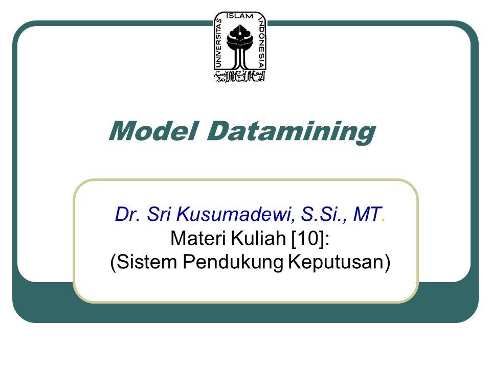 Model Datamining Dr. Sri Kusumadewi, S.Si., MT. Materi Kuliah [10]:
